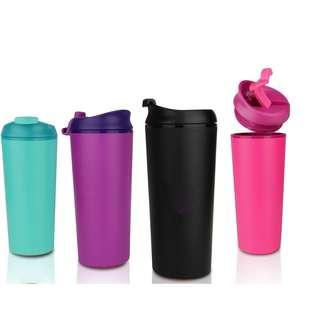 Double Wall Suction Bottle (330ml)- Pink/ Green/ Black