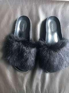 Topshop fur slide