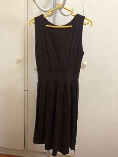 Brown jersey dress