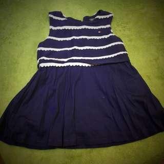 🚚 女寶 深藍優質洋裝 6-9m