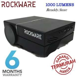 PROJECTOR ROCKWARE RW-50 - 1000 Lumens with VGA and HDMI Port