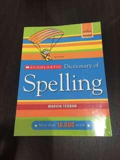 Scholastic Spelling Dictionary