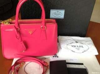 Preloved Authentic Prada Saffiano Lux BN2316 Peonia (pink)