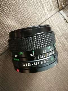 Canon lens NFD 50mm f1.4