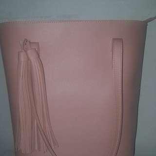 Miniso / Hand Bag / Tas Besar / Tenteng / Wanita / Perempuan / Cewek / Pink