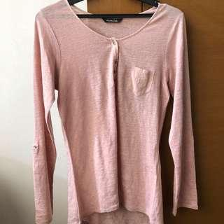 Massimo Dutti Pink long sleeves top