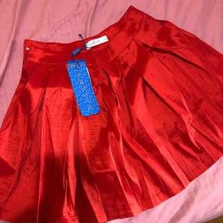 New Red Skirt with safety short