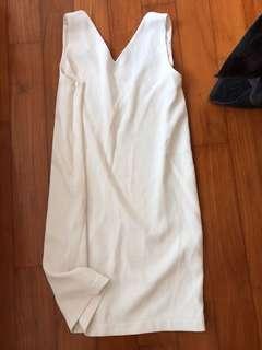 White simple work dress