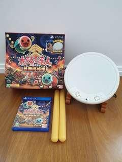 Like brand new in box taiko drum ps4 ps 4 playstation taiko no tatsujin drum set