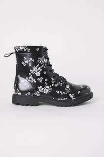 New Arrival in US Store! H&M Girl Floral High Top Boots || Shoes