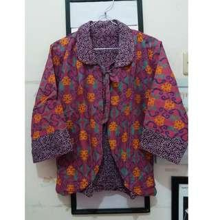 Blazer Batik Bolak-Balik