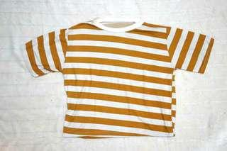 Striped mustard hanging shirt