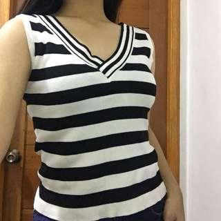 Striped Sleeveless