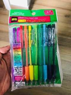 清貨 十色筆 鉛子筆 文具套裝