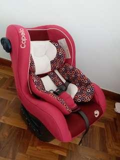 Baby Car Seat Capella and Baby cot (grey purple)