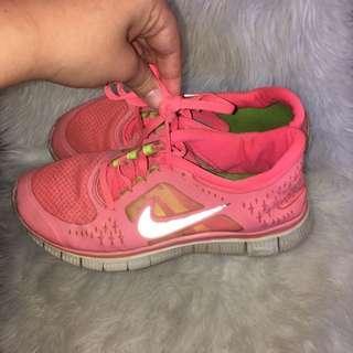 Fluro Pink Nike Running Shoes
