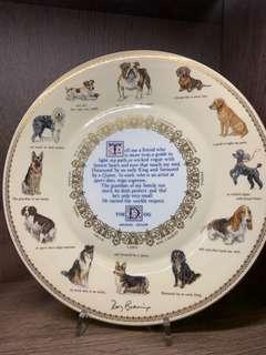 🚚 VINATGE BONE CHINA PLATE ABOUT DOGS
