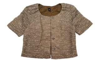 GG<5 Tweed Short Sleeve Blazer