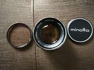 Minolta lens Rokkor 58mm f1.4