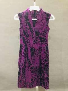 Dress Etoile D'Elfas ungu polka