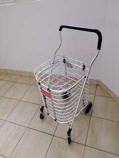 Foldable trolley w/tray