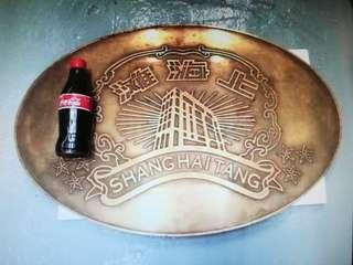 懷舊中古那些年銅制上海灘 Shanghai Tang 大Logo 擺設