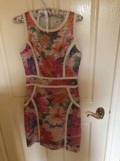 Floral Tweed Dress