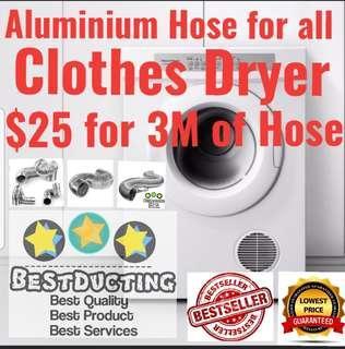 🚚 clothes dryer/Aluminium pipe/cooler hose/tumble dryer/pipe/hose/flexible/ducting/exhaust fan/vent/Plastic/cooler/cooker/hood/ventfan/exhaust/trunking/Vinyi/aluminum/ventilation/portable aircon/tubing/vinyi/event/airbrush/booth/miner/antminer/dash/S9/L3