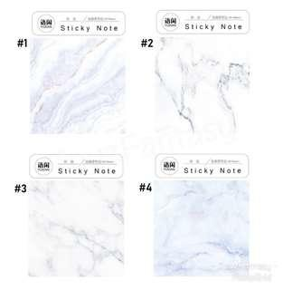 Marble Design Sticky Note / Post it / Memo