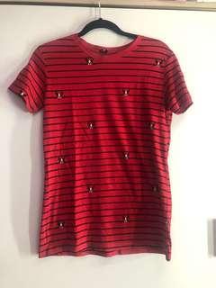 Stradivarius Red Tshirt