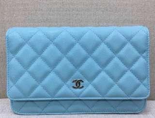 Chanel WOC in Tiffani blue