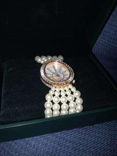 🚚 珍珠錶帶宴會手錶