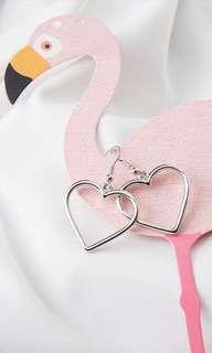 BN Harajuku Silver Heart Earrings