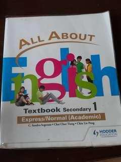(Price reduced!!)All About English Textbook