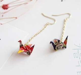 BN Origami Crane Earrings