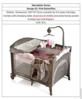 Baby Cot (purple grey)