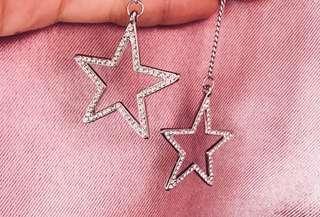 BN Glittery Star Drop Earrings
