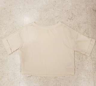 H&M beige cuffed sleeves top