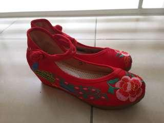 Traditional high heel shoes