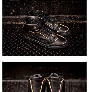 🚚 限時特價 Versace 高筒鞋 黑鞋 休閒鞋 男鞋 collection 系列