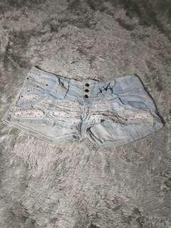 Big size hot pants jeans ripped jeans polkadot short jeans loose boyfriend bf jeans bkk bangkok import hotpans