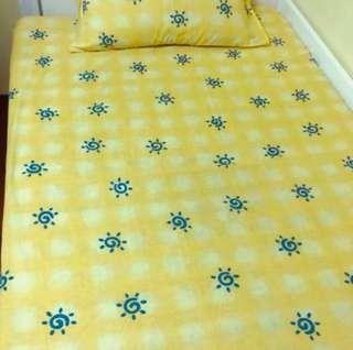 🚚 小太陽 雙人床包 枕頭套