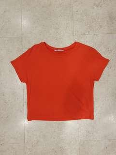 Zara plain red top