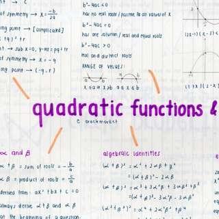 o level math cheat sheet/summary notes
