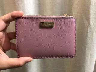 Kate spade 乾燥玫瑰色 卡包 零錢包 鑰匙包
