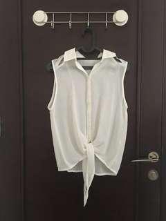 Gaudi white sleeveless shirt #JAN25