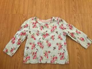 Mothercare floral long sleeves top