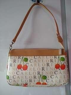 Carlo rino cherry handbag
