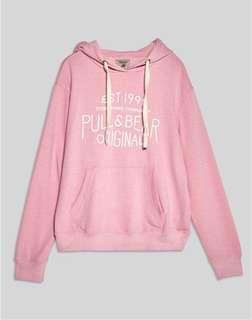 baby pink pull & bear hoodie