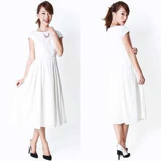 Aforarcade Taylor Midi White Dress